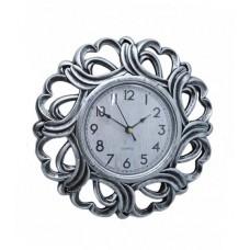 Ρολόι Τοίχου Πλαστικό, Αντικέ Ασημί, 25εκ, 774159