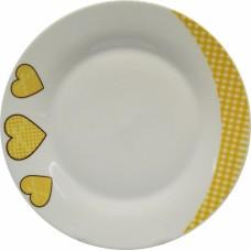 Σετ Πιάτα Πορσελάνης 18τεμ Στρογγυλό, Καρδιές, R8035-18