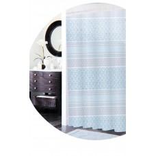 Κουρτινα Μπάνιου Αδιάβροχη, Μπλε-Γκρι, Με Κρίκους 775385 180x180υψ