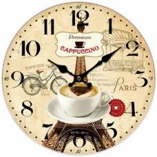 Ρολόι Τοίχου Ξύλινο Capuccino 777273 Φ34εκ Ankor