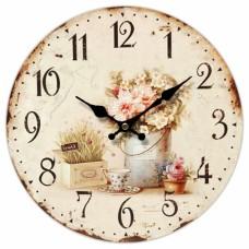 Ρολόι Τοίχου Ξύλινο Antique 777297 Φ34εκ Ankor