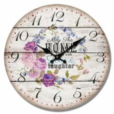 Ρολόι Τοίχου Ξύλινο Home 777303 Φ34εκ Ankor