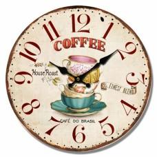 Ρολόι Τοίχου Ξύλινο Coffee 2 777341 Φ34εκ Ankor