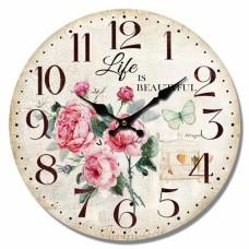 Ρολόι Τοίχου Ξύλινο Life 777358 Φ34εκ Ankor