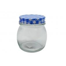 Βάζο Γυάλινο Βιδωτό Καπάκι Μπλε Καρώ 774944 0,28lt ΟΕΜ 8,5x9υψ