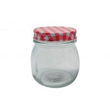 Βάζο Γυάλινο Βιδωτό Καπάκι Κόκκινο Καρώ 774944 0,28lt ΟΕΜ 8,5x9υψ