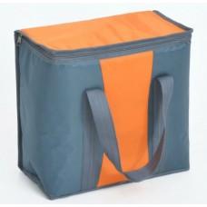 Ισοθερμική Τσάντα 16lt OEM 778140 35x17x34υψ Γκρι - Πορτοκαλί