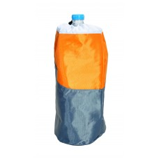 Ισοθερμική Τσάντα Μεγάλη Για Μπουκάλι 1,5lt OEM 778195 15x15x33υψ Γκρι - Πορτοκαλί