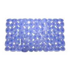 Πατάκι Μπανιέρας Αντιολισθητικό Με Βεντούζες 35x68εκ 782178 Γαλάζιο