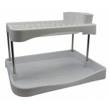 Πιατοθήκη - Στεγνωτήρι Πιάτων Διώροφη Άσπρη 781966 ΟΕΜ 42x32x28υψ
