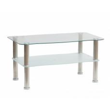 Τραπέζι Σαλονιού Γυάλινη Επιφάνεια Μεταλλικά Πόδια 787333 90x50x45υψ
