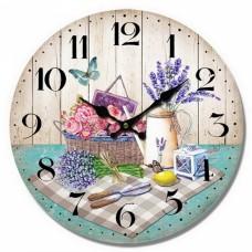 Ρολόι Τοίχου Ξύλινο Levanda 780396 Φ34εκ Ankor