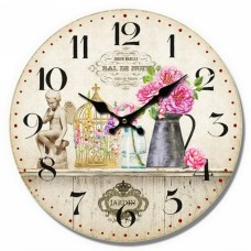 Ρολόι Τοίχου Ξύλινο Jardin 780402 Φ34εκ Ankor