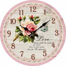Ρολόι Τοίχου Ξύλινο Love 780440 Φ34εκ Ankor