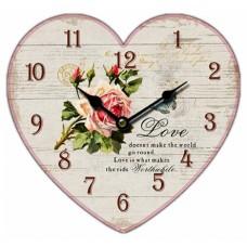 Ρολόι Τοίχου Ξύλινο Heart 2 780495 31x28υψ Ankor