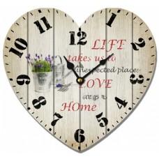 Ρολόι Τοίχου Ξύλινο Heart 3 780501 31x28υψ Ankor