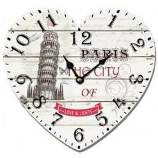 Ρολόι Τοίχου Ξύλινο Heart 4 780518 31x28υψ Ankor