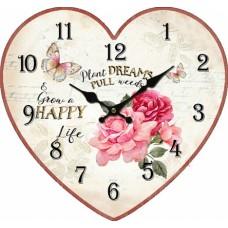 Ρολόι Τοίχου Ξύλινο Heart 780525 31x28υψ Ankor