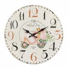 Ρολόι Τοίχου Ξύλινο Bike 787531 Φ34εκ Ankor