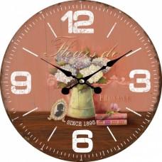 Ρολόι Τοίχου Ξύλινο Pot 787555 Φ34εκ Ankor