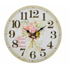 Ρολόι Τοίχου Ξύλινο Retro 787579 Φ34εκ Ankor