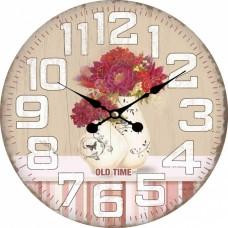 Ρολόι Τοίχου Ξύλινο Pot 2 787586 Φ34εκ Ankor