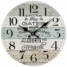 Ρολόι Τοίχου Ξύλινο Praise 788927 Φ34εκ Ankor