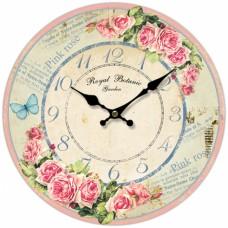 Ρολόι Τοίχου Ξύλινο Flowers 788934 Φ34εκ Ankor