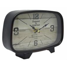 Ρολόι Επιτραπέζιο Αντικέ Μαύρο - Καφέ 789054 20x5x14υψ Ankor