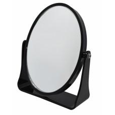 Καθρεφτάκι Επιτραπέζιο Οβαλ Διπλό Μαύρο 782079 17x20εκ Ankor