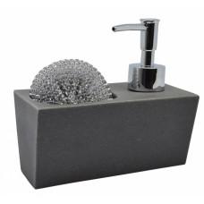 Σαπουνοθήκη - Dispenser Με Θήκη Γκρι 788262 14,5x7,5x13υψ - Ankor