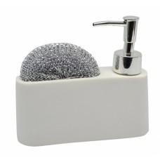 Σαπουνοθήκη - Dispenser Με Θήκη Άσπρο 788286 16,5x5x14υψ - Ankor