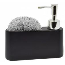 Σαπουνοθήκη - Dispenser Με Θήκη Μαύρο 788293 16,5x5x14υψ - Ankor