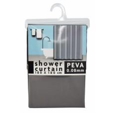 Κουρτίνα Μπάνιου Πλαστική PEVA Αδιάβροχη Γκρι 788620 180x180υψ - Ankor
