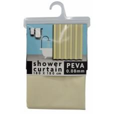Κουρτίνα Μπάνιου Πλαστική PEVA Αδιάβροχη Μπεζ 788637 180x180υψ - Ankor