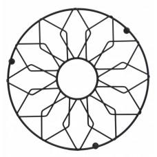 Σουπλά Μεταλλικό Στρογγυλό Μαύρο Ματ Φ21εκ 788378 Ankor