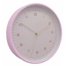 Ρολόι Τοίχου Πλαστικό Στρογγυλό Ροζ 790791 Φ25,5x4,3εκ - Ankor