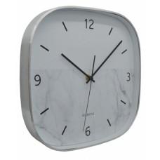 Ρολόι Τοίχου Αλουμινίου Τετράγωνο Ασημί 790814 29x4,3x29εκ - Ankor