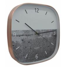 Ρολόι Τοίχου Αλουμινίου Τετράγωνο Ροζ Χρυσό 790814 29x4,3x29εκ - Ankor