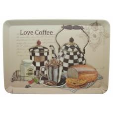 Δίσκος Σερβιρίσματος Μελαμίνη Love Coffee 791637 22x15εκ Ankor