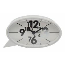 Ξυπνητήρι Πλαστικό Αθόρυβο Άσπρο 790715 14,1x4,1x7,7υψ Ankor