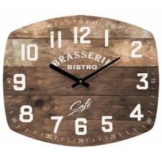 Ρολόι Τοίχου Μεταλλικό Ορθογώνιο Καφέ 792719 40x33εκ Ankor