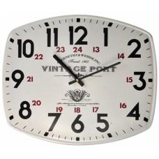 Ρολόι Τοίχου Μεταλλικό Ορθογώνιο Άσπρο 792726 40x33εκ Ankor