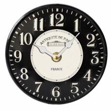 Ρολόι Επιτραπέζιο Μεταλλικό Στρογγυλό Μαύρο 792733 Φ15,5εκ Ankor