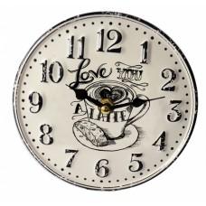 Ρολόι Επιτραπέζιο Μεταλλικό Στρογγυλό Άσπρο 792740 Φ15,5εκ Ankor