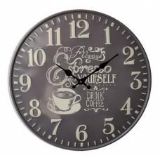 Ρολόι Τοίχου Μεταλλικό Ανάγλυφο Γκρι 792757 Φ40εκ Ankor