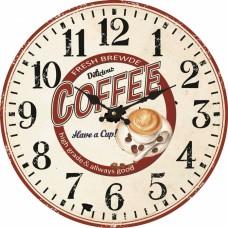 Ρολόι Τοίχου Μεταλλικό Ανάγλυφο Άσπρο - Κόκκινο 792771 Φ40εκ Ankor