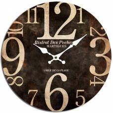Ρολόι Τοίχου Ξύλινο Στρογγυλό Καφέ 792849 Φ34εκ Ankor