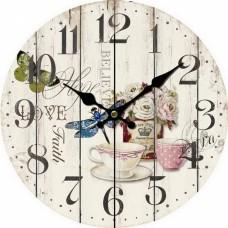 Ρολόι Τοίχου Ξύλινο Στρογγυλό Ντεκαπέ 792863 Φ34εκ Ankor