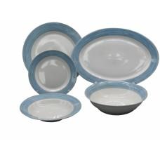 Σετ Πιάτα 20τεμ Στρογγυλό Πορσελάνη Γαλάζιο RF9001-20 Ankor